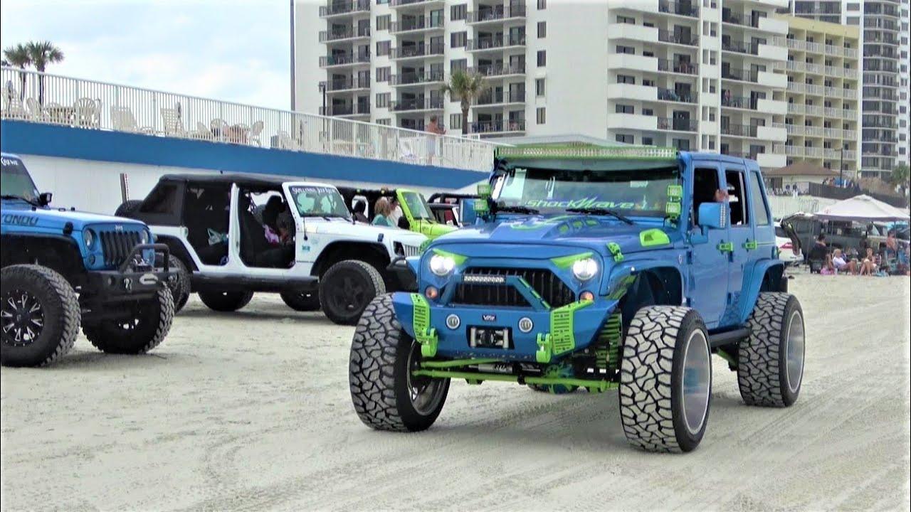 Jeep Beach   Daytona Beach 2021   Jeep Beef Lifted 4x4