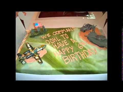 DIY Army cake decorations