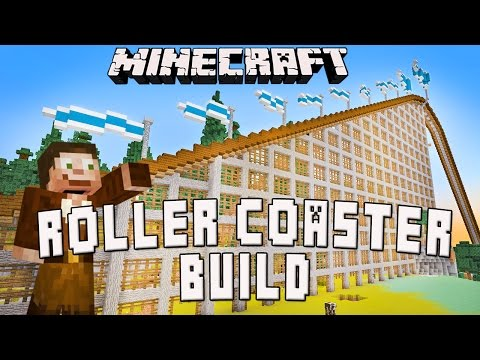 Minecraft:  Roller Coaster Timelapse Survival Build (Scarland Coaster Build Ep.23)