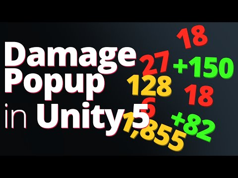 Damage Popup Text in Unity 5