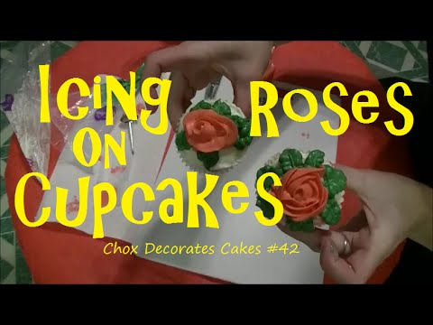 Making Icing Roses on Cupcakes | Chox Decorates #42
