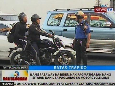BT: Ilang pasaway na rider, nakipagmatigasan nang sitahin dahil sa paglabag sa motorcycle lane