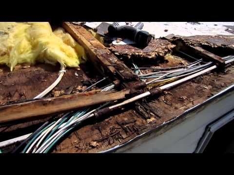 Travel Trailer Camper RV Damaged Roof Replacement
