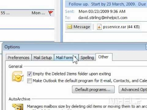 How to make Outlook the default program for Email, Contacts, and Calendar
