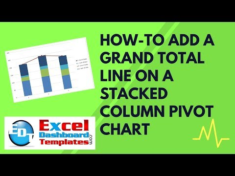 How-to Add a Grand Total Line on an Excel Stacked Column Pivot Chart