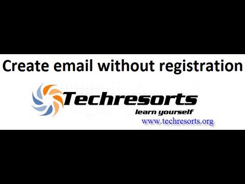 How to create email without registration?
