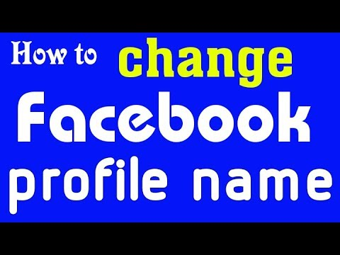 How To Change Facebook Profile Name fast on Android || Tech Aid