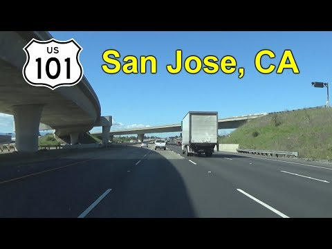 US Route 101 in San Jose, CA