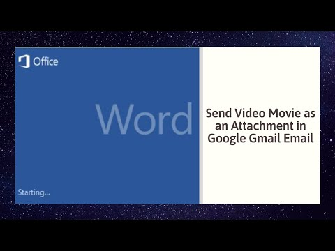 How to Send Video Movie as an Attachment in Google Gmail Email