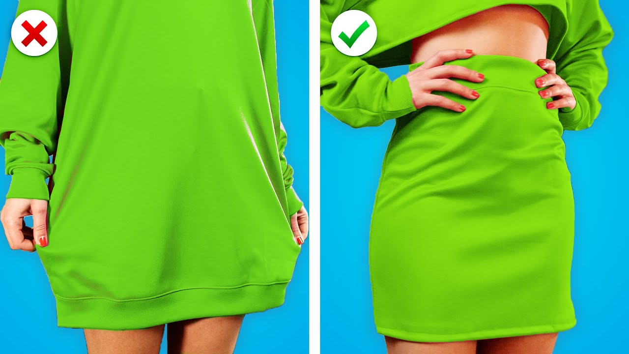 OLD to NEW ! 10 Clothing Hacks & DIY Fashion Ideas to Fix Old Clothes by Crafty Panda