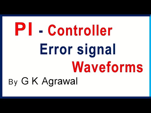 Closed loop control system & error signal wave shape