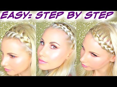 💓How to Braid Hair for Beginners Step by Step 💓Headband Braid Tutorial For Long and Short Hair