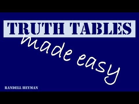 Truth tables made easy