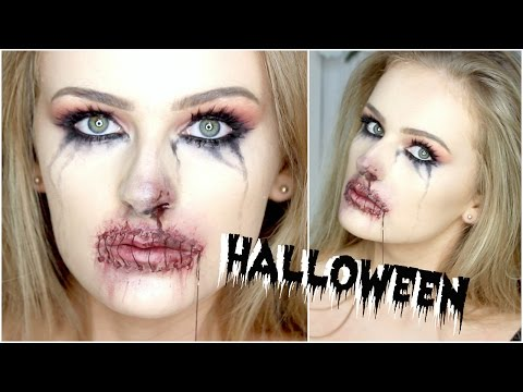 BLOODY STITCHED UP Mouth | SFX FREE Halloween Makeup!