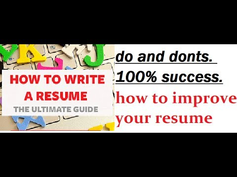 how to write a perfect resume for college students, with no job experience and freshers.