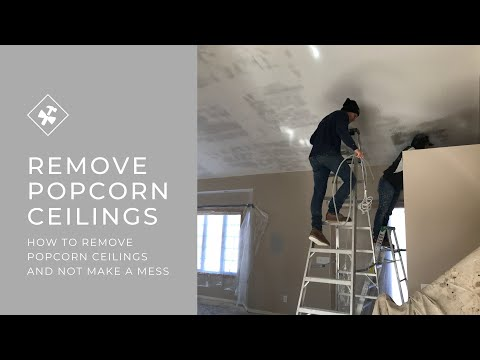 How to remove textured popcorn ceilings
