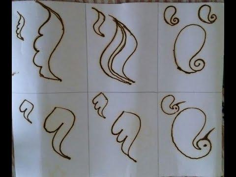 Mehndi designs for beginners  quick and easy design  Basic shape of mehndi  easy mehndi Tutorial 2