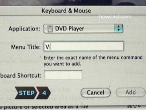 How to Assign Shortcut Keys on a Mac