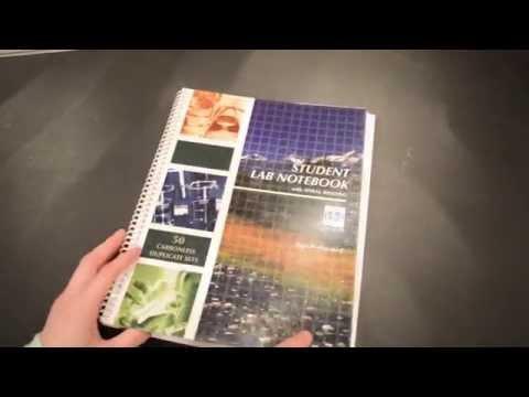 Student Lab Notebook Tutorial