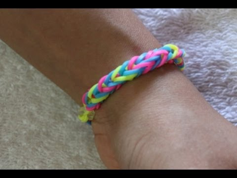 How To Make Fishtail triple color Rainbow Loom friendship band/easy