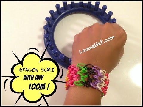 Rainbow Loom Dragon Scale Bracelet without the Rainbow Loom use ANY Loom