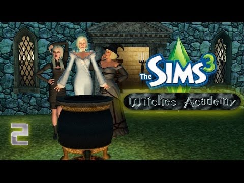 Let's Play - The Sims 3 Witches Academy (Part 2) The Witches Go After A Vampire