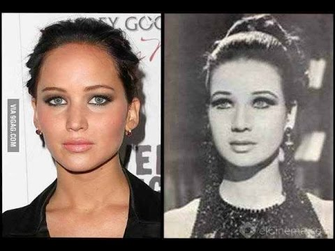 10 CELEBRITIES AND THEIR LOOK ALIKE FROM THE PAST (DOPPELGANGER)PART I