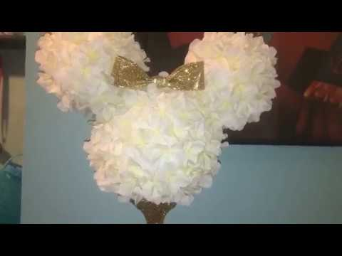 Diy Minnie Mouse Centerpiece   Dollar Tree & Joanns