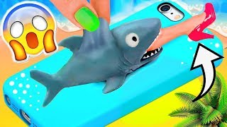 Download DIY VIRAL SQUISHY PHONE CASES ! AMAZING SHARK PHONE CASES / How to make a squishy Video
