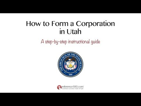 How to Incorporate in Utah