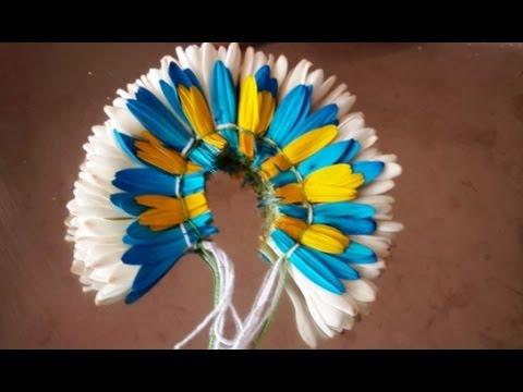 How to make flower garland for wedding bride