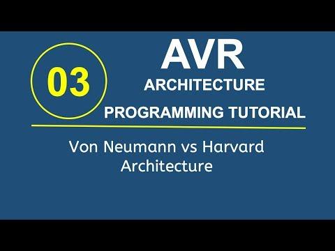 Embedded Systems Programming with AVR 3- Von Neumann vs Harvard Architecture