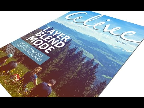 How to create magazine cover in Photoshop | Alive