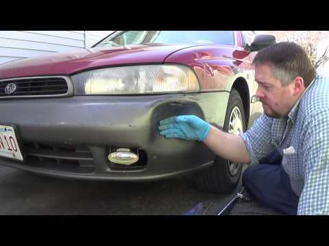 1995 Subaru Outback: DIY - popping a dent out of bumper cover