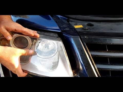 How to change a halogen light bulb with a VW Touareg Porsche Cayenne Audi Q7 (ENGLISH)