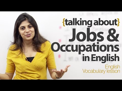 Talking about Jobs and Occupations in English - Free English Lesson