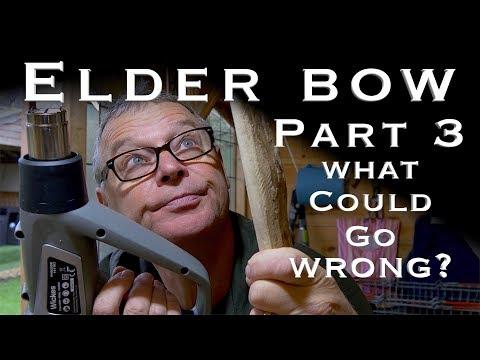 Making an Elder Bow. We Need to Talk 😕 Shortening & Heat Straightening the Bow Part 3
