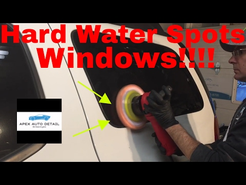 How to remove water spots from the windows of your car or truck.