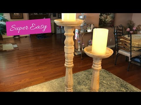 Farmhouse Tuscan DIY Candleholders