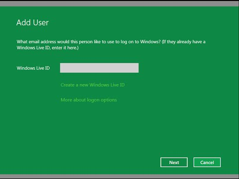 How to Create a New User for Windows 8