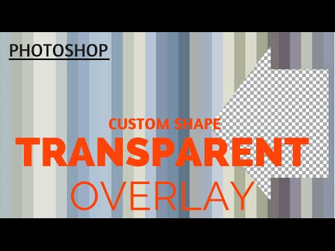 Cut a Custom Shape from a Photo in Photoshop - make transparent overlays for video and other uses