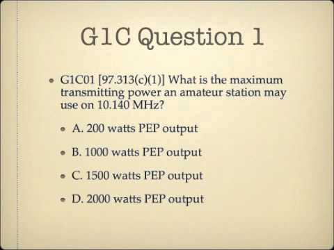 Lesson 3: General Class Exam Course G1C