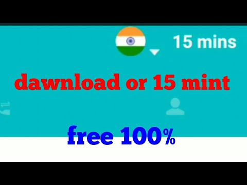 15 mint dawnload krne pr India free call anywhere/ Indiakhan7
