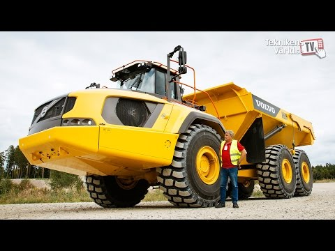 Volvo A60H articulated dump truck - first test drive