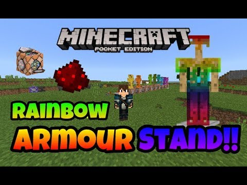 How to make Working Rainbow Armor Stand in Minecraft PE