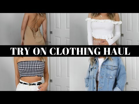 TRY ON CLOTHING HAUL •  Zara, Missguided, H&M + More!