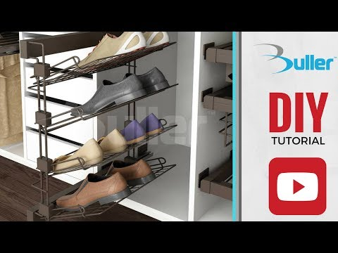 How to install Moka Pull-out shoe rack for Wardrobes