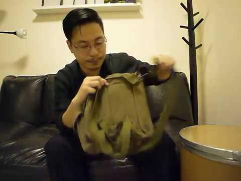 กระเป๋าสะพายข้างหน้ากากแก้ส Gas mask bag WW2