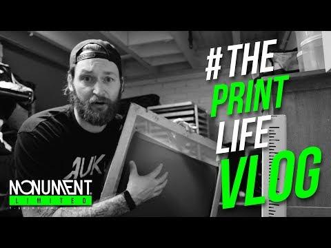 Screen Print Vlog: Im Starting a High Density Print Project.