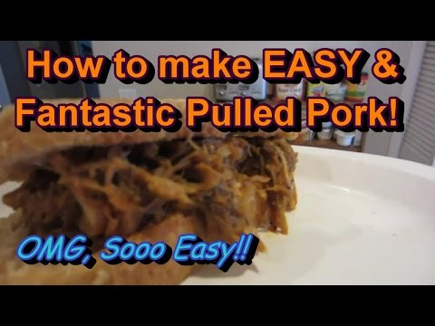 Super Easy, Fanstastic Pulled Pork - No Barbeque Sauce Needed!